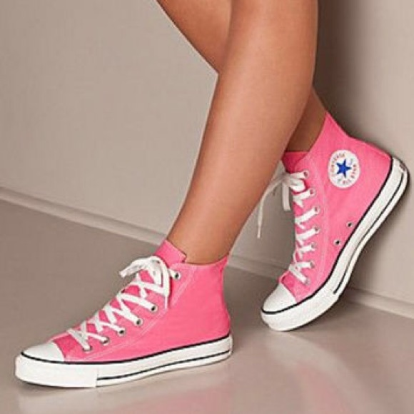 2975b43483ab Converse Shoes - Converse Chuck Taylor High-Top Neon Pink Sneaker